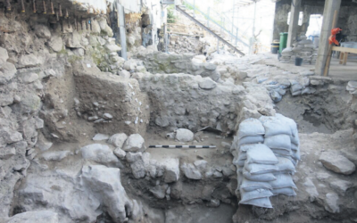 The excavation area of an 8th century BCE layer of destruction in the City of David. Photo: Ortal Kalaf/Israel Antiquities Authority/Times of Israel