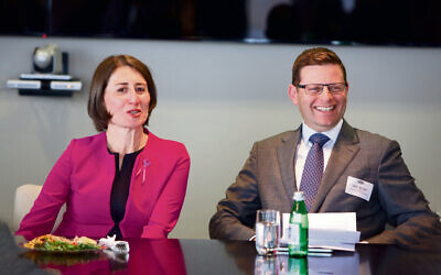 Gladys Berejiklian and JBOD president Lesli Berger.