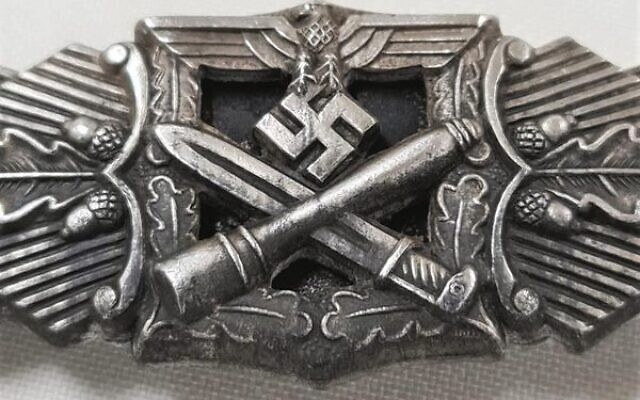 A WWII German military award, the close combat clasp, being sold by JB Military Antiques later this month.