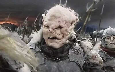 An orc in The Lord of the Rings.  Photo: YouTube screenshot