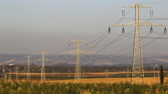 صورة توضيحية لخطوط كهرباء (Flash90)
