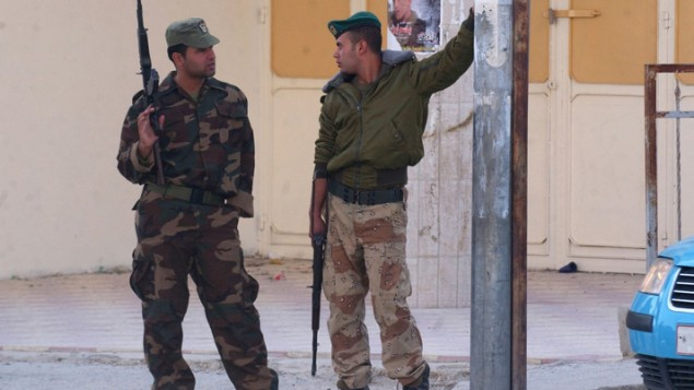 رجال امن فلسطينون في الضفة الغربية (بعدسة وجدت اشتية/ فلاش 90)