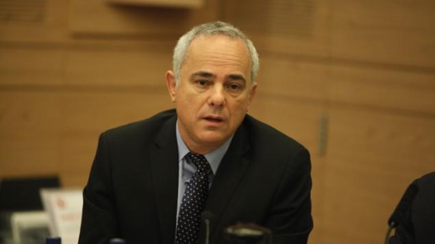 الوزير يوفال شتاينيتس في اجتماع لجنة الخارجية والدفاع في القدس 20 مايو 2013 (فلاش 90)