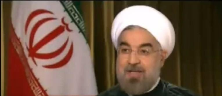 الرئيس الايراني حسن روحاني خلال لقاء مع CNN سبتمبر 2013 (من شاشة يوتوب)