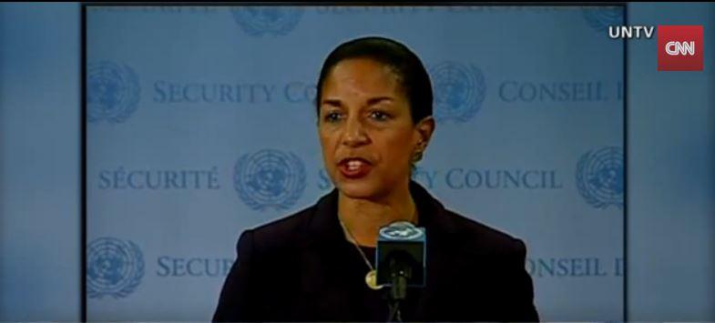 مستشارة الأمن القومي اللأمريكي سوزان رايس (من شاشة يوتوب سي ان ان)