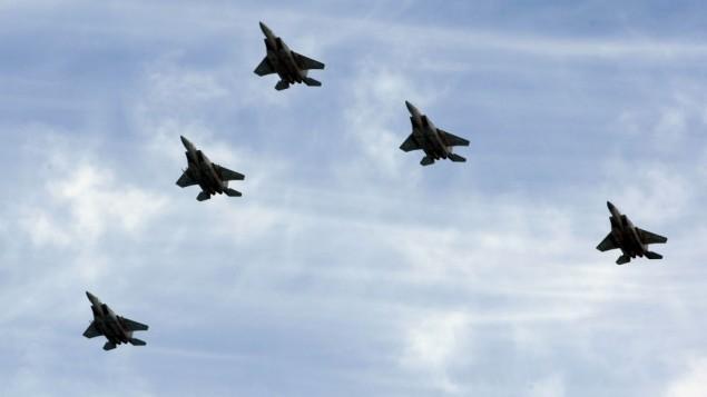 صورة توضيحية لطائرات F15 من سلاح الجو الاسرائيلي (بعدسة موشي شاي/ فلاش 90)