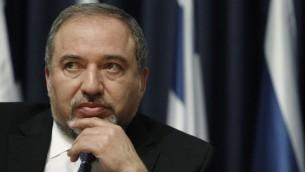 وزير الخارجية افيجدور ليبرمان (بعدسة ميريام الستير/ فلاش 90)