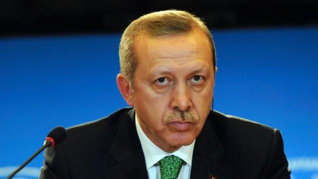 رئيس الوزراء التركي يعقد مؤتمرا صحافيا في بروكسل بعد لقاء في البرلمان الاوروبي في 21 كانون الثاني/يناير 2014 (أ ف ب )