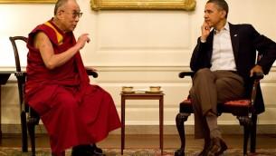 لقاء بين الدالي لاما وباراك اوباما في واشنطن 2011  (photo credit: CC BY SFT HQ/Flickr)