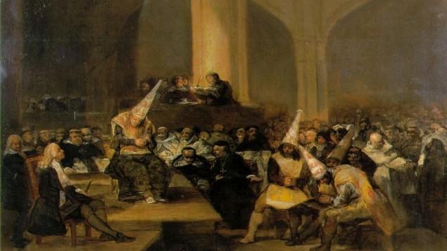 محاكم التفتيش, لوحة فنية للفنان الاسباني فرانسيسكو جويا. القرن التاسع عشر (photo credit: Wikimedia Commons/CC BY)