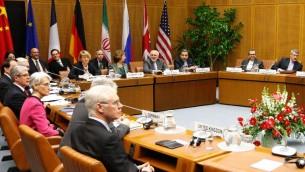 مشهد عام لاجتماع ممثلي الدول الكبرى وايران في فيينا في 18 شباط/فبراير 2014  © اف ب ديتر ناغل