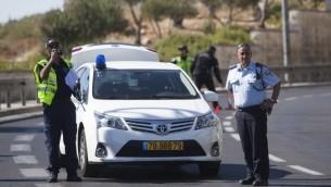 الشرطة الاسرائيلية, صورة توضيحية (يوناتان سنايدل/ فلاش 90)