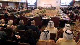 جلسة افتتاح لقاء وزراء الخارجية العرب في القمة بالكويت ٢٣ مارس ٢٠١٤ (بعدسة زيات/ أ ف ب)