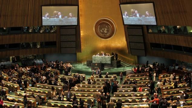 قاعة اجتماع الهيئة العامة للامم المتحدة، نيويورك (photo credit: CC BY linh.m.do, Flickr)