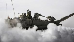 المدفعية الاسرائيلية خلال تمرين ٢٠١١(برعاية وحدة الناطق بلسان الجيش الاسرائيلي)