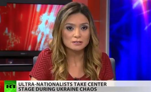 المراسلة ليز واهل تستقيل من قناة روسيا اليوم امريكا (من شاشة اليوتوب)
