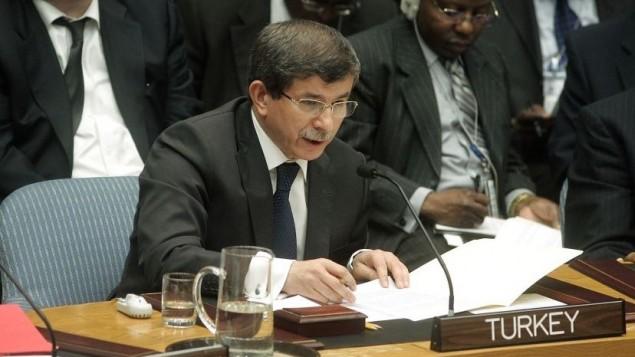 رئيس الوزراء التركي احمد داود اوغلو (UN Photo by Jenny Rockett)