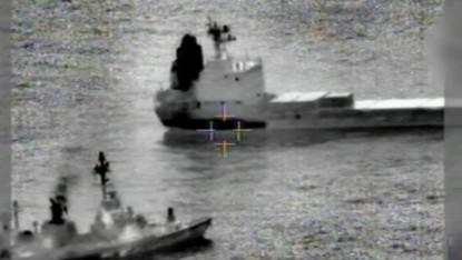 صورة للسفينة Klos-C الموقوفة على يد الجيش الاسرائيلي (مقدمة من الجيش)