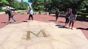 طلاب في جامعة ميشيجن (من شاشة اليوتوب)