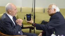الرئيس شمعون بيريس في لقاء معايدة  مع الاذاعة الفارسية (برعاية مكتب رئيس الدولة)