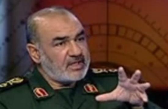 الجنرال الايراني سردار حسين سلامي (من شاشة اليوتوب)
