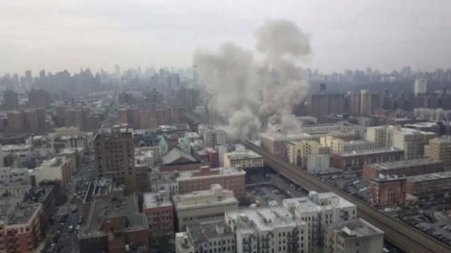 انفجار شرقي هارلم (من شاشة اليوتوب)