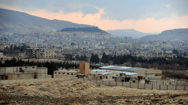 صورة مقدمة من وكالة سانا الاخبارية لمدينة يبرود بعد أن سيطر عليها النظام السوري (سانا/ أ ف ب)
