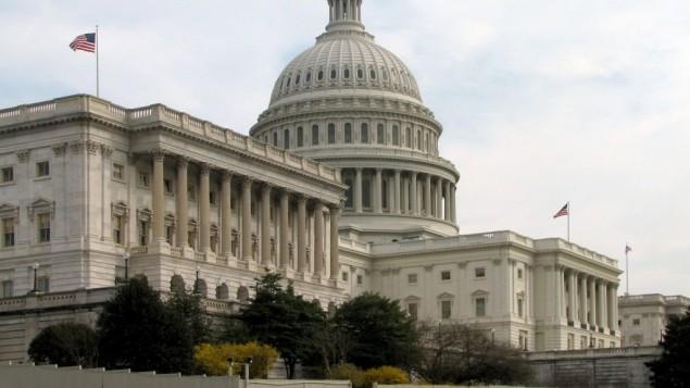 جهة السنات من بناية الكابيتول في واشنطن  (photo credit: Wikimedia Commons/File)