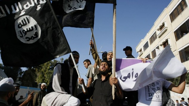 سلفيون فلسطينيون يتظاهرون جنوب غزة سبتمبر ٢٠١٢ (عبد الرحيم خطيب/ فلاش ٩٠)
