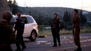 قوات الجيش الاسرائيلي في ساحة الحادث ١٤ ابريل ٢٠١٤ (عصام ريماوي / فلاش ٩٠)
