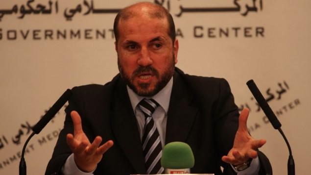 وزير الشؤون الدينيية في السلطة الفلسطينية محمود الحبش (عصام ريماوي/ فلاش ٩٠)