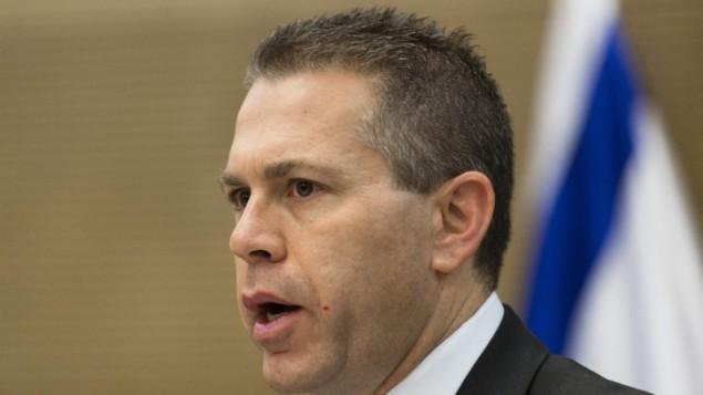 وزير الاتصالات والامن الداخلي جلعاد اردان (فلاش90)