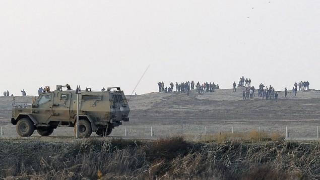سيارة للجيش لاسرائيلي 3 يناير 2014 (فلاش 90)