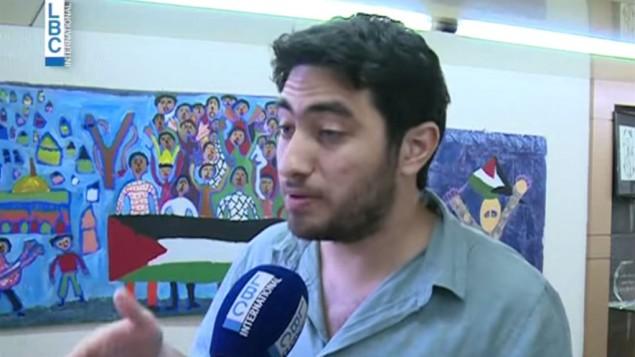 الصحفي العربي الاسرائيلي مجد كيال (من شاشة اليوتوب)