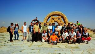 صورة جماعية في قصر هشام في اريحا  (photo credit: copyright/Bruce Shaffer)