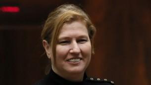وزيرة العدل تسيبي ليفني ( Miriam Alster/Flash90)