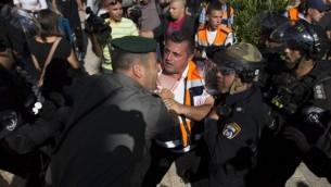 اشتباكات بين متظاهرين وحرس الحدود يوم النكبة في القدس ١٥ مايو ٢٠١٤ (يوناتان سنايدل/ فلاش ٩٠)