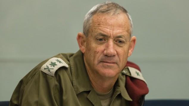رئيس اركان الجيش بيني جانز في لقاء لجنة الشؤون الخارجية والدفاع في الكنيست ٢٠ مايو ٢٠١٤ (فلاش ٩٠)