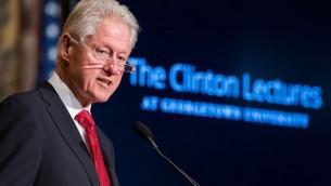 رئيس الولايات المتحدة السابق بيل كلينتون في جامعة جورجتاون ٣٠ ابريل ٢٠١٤  (photo credit: Georgetown University)