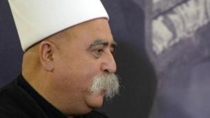 القائد الروحي للطائفة الدرزية الشيخ موفق طريف 20 اوكتوبر 2013 ( Mark Neyman/GPO/FLASH90)