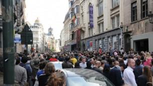 احتجاج صامت في بلجيكا امام المتحف اليهودي الأحد 25 مايو (Surya Jonckheere)