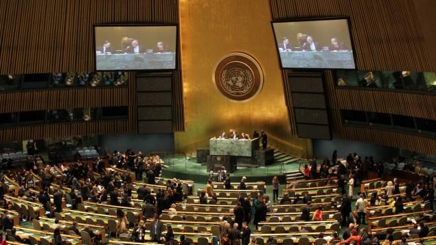 اجتماع اللجنة العامة للامم المتحدة ( CC BY linh.m.do, Flickr)