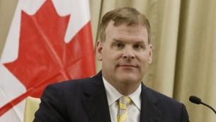 وزير الخارجية الكندي جون بيارد في القدس (فلاش ٩٠)