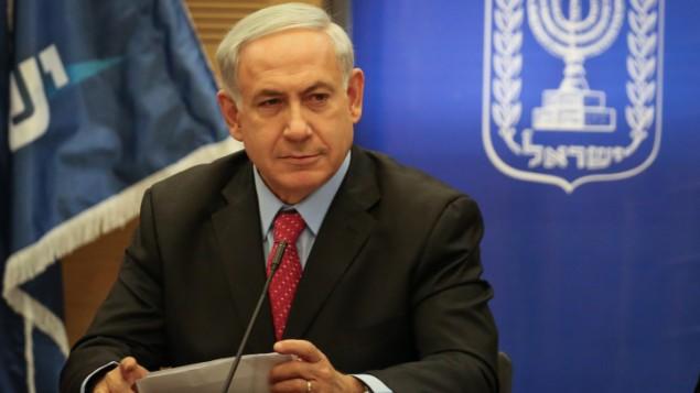 رئيس الحكومة بنيامين نتنياهو، الاثنين ( Hadas Parush/Flash90)