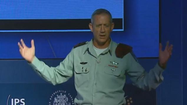 رئيس اركان الجيش بيني غانز في مؤتمر هرتسليا الاثنين ( Herzliya conference)