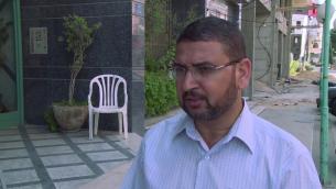 الناطق بلسان حماس سامي ابو زهري (يوتوب /أ ف ب)