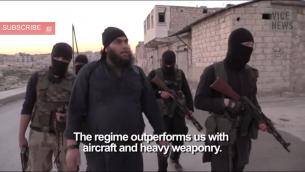 مقاتلوا الدولة الاسلامية في سوريا (من شاشة اليوتوب)
