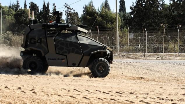 A Guardium UGV  (Photo credit: Courtesy IDF)