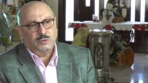 السفير الفلسطيني لدى المملكة المتحدة مانويل حساسيان (من شاشة اليوتوب)