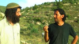 شاؤول دافيد جودلمان وعلي ابو عواد، ناشطان من الضفة الغربية (صورة مقدمة من الخيار الثالث)
